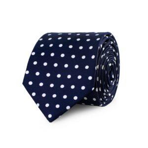 Cravatta blu fantasia pois Fefè Glamour