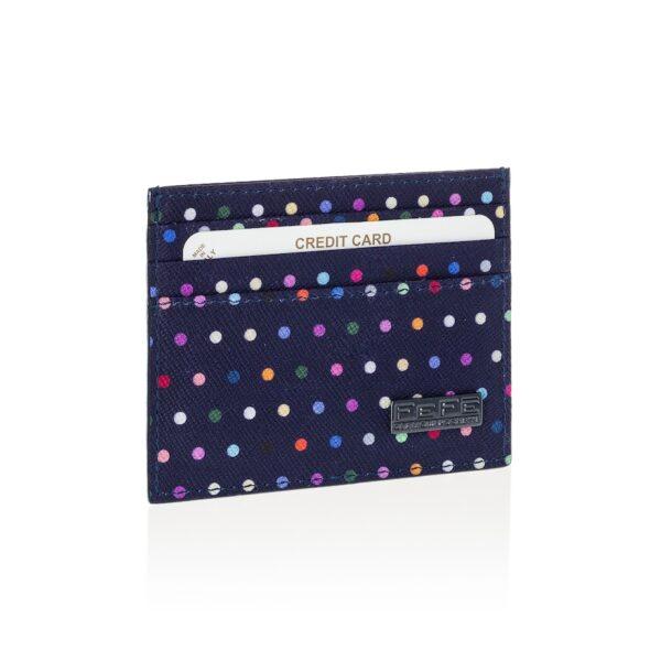 Portacarte blu fantasia micropois Fefè Glamour