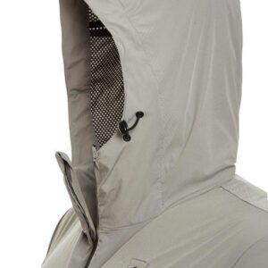 Giubbino grigio nylon con cappuccio Blauer