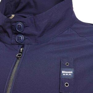 Giubbino blu nylon corto Blauer