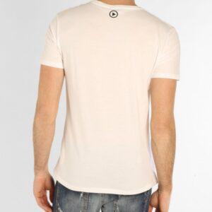 T-shirt bianca girocollo ampio con stampa snowboard Ice Play Iceberg