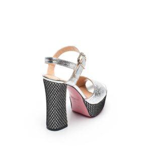 Sandalo argento con plateau Tipe e Tacchi