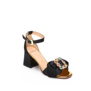 Sandalo basso nero Tipe e Tacchi