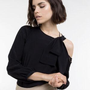 camicia body in seta nero Patrizia Pepe