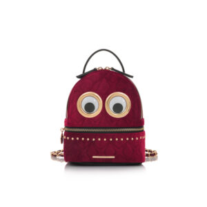 Eyes Mini Backpack Occhi Velvet Deep Red Le Pandorine