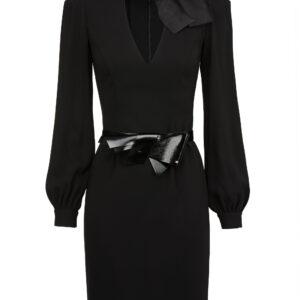 Mini abito nero con fiocco Elisabetta Franchi