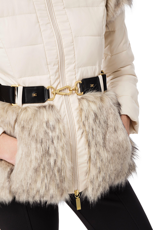 bmft-your-daily-stylist-blu-moda-fashion-team-. Sale. piumino corto con  cintura Elisabetta Franchi 89086d39b17