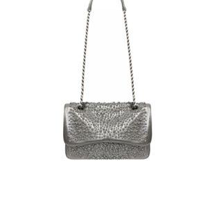 tracolla media argento perle Mia Bag
