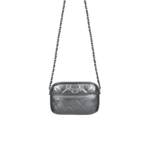 tracolla zip soft leather piombo Mia Bag