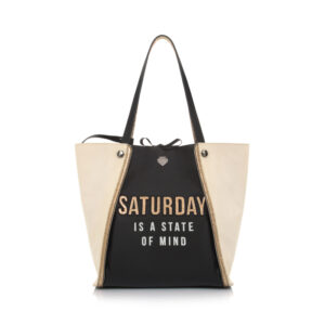 Week Bag saturday black Le Pandorine