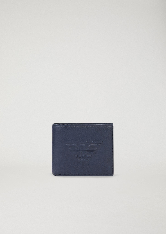 049416094f portafoglio blu aquila emporio armani