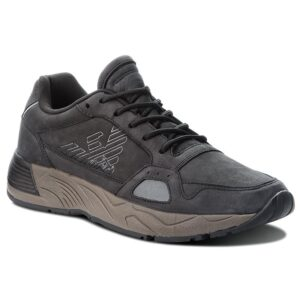 sneakers nera emporio armani