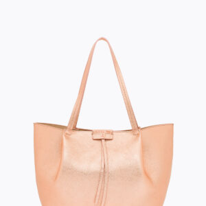 Borsa shopping in pelle oro rose Patrizia Pepe