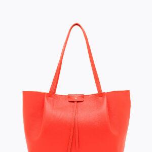 Borsa shopping in pelle rossa Patrizia Pepe