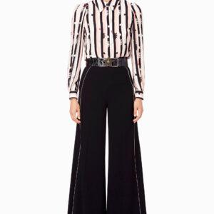 Pantalone a palazzo con cintura Elisabetta Franchi