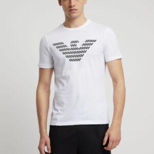 T-shirt bianca stampa logo Emporio Armani