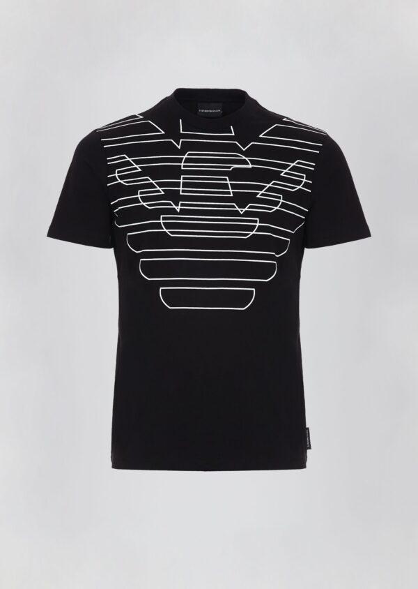 T-shirt logo stampato Emporio Armani