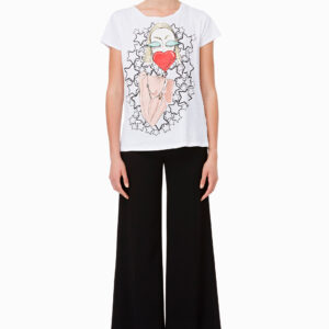 T-shirt stampa stelle Elisabetta Franchi