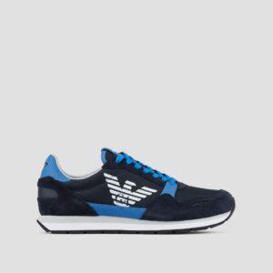 Sneakers in pelle scamosciata bicolore Emporio Armani