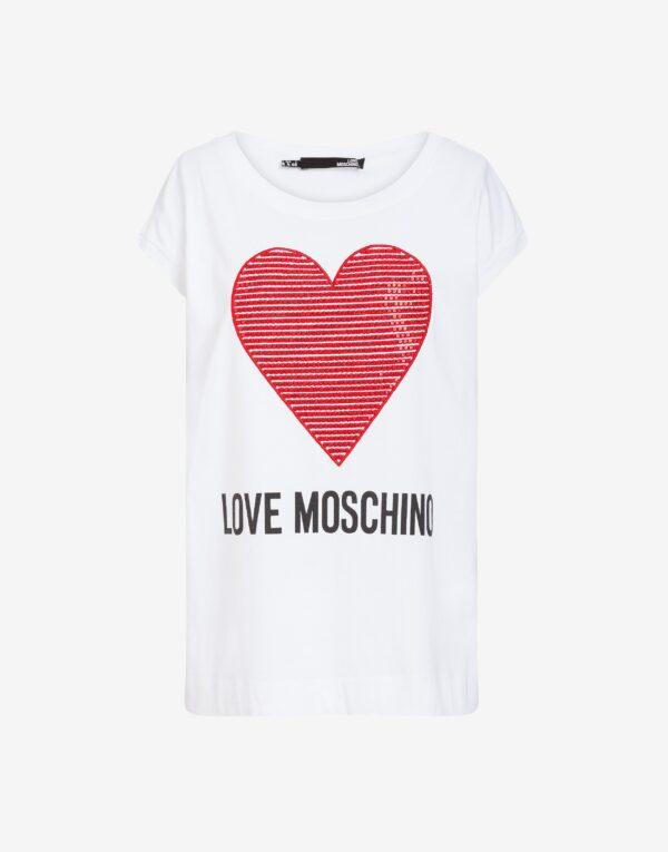 T-shirt Cuore Love Moschino
