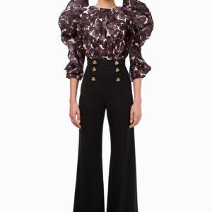 Camicia body stampa fiore Elisabetta Franchi