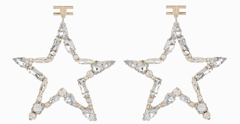 Orecchini a stella con strass Elisabetta Franchi