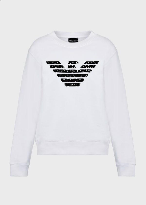 felpa bianca Emporio Armani