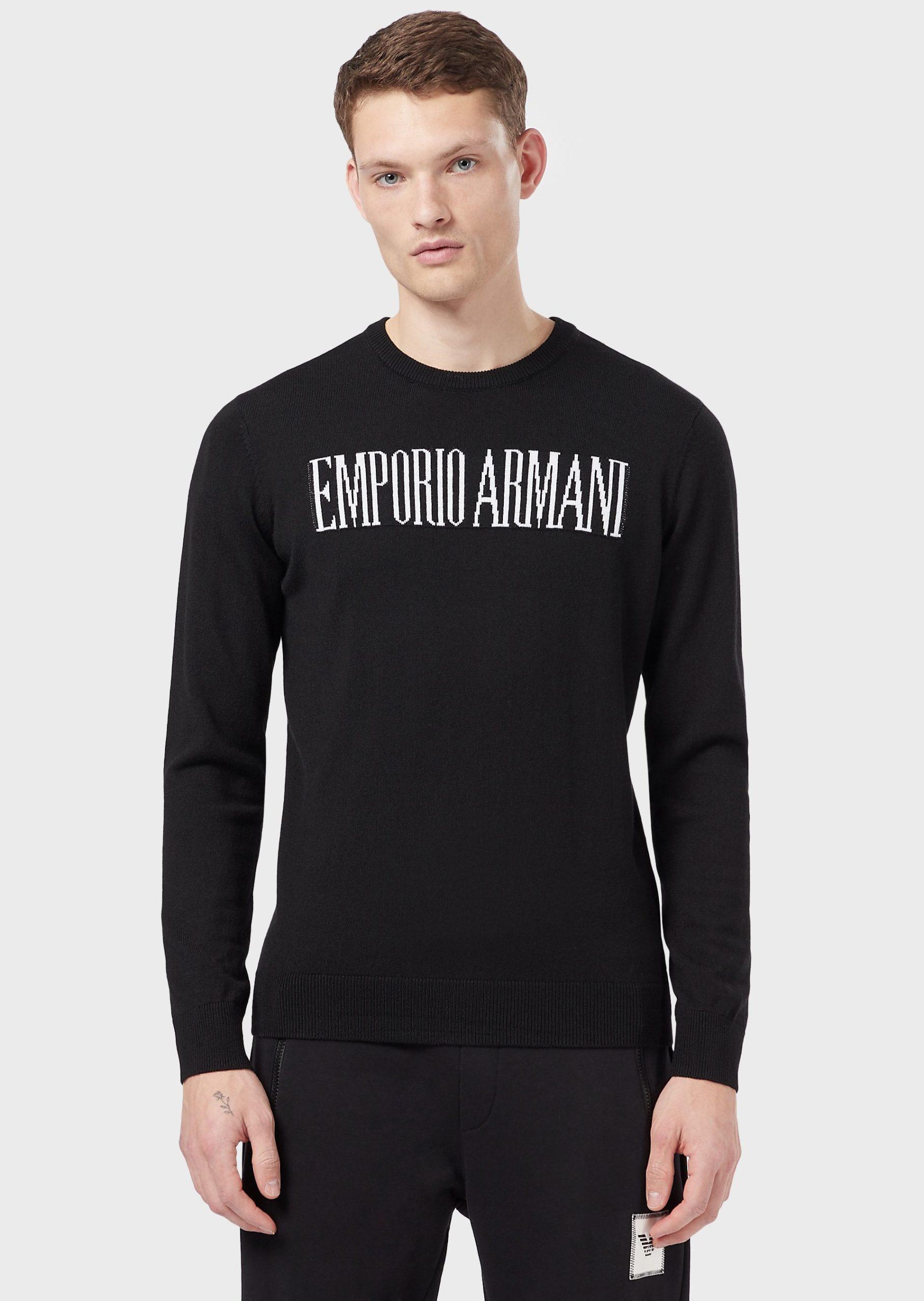 Maglione nero Emporio Armani - Blumoda Fashion Team