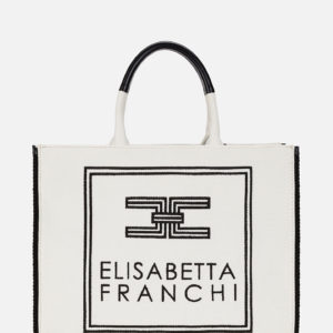 Borsa in canvas Elisabetta Franchi