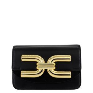mini borsa con tracolla in metallo Elisabetta Franchi