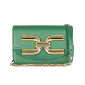 mini borsa menta con tracolla in metallo Elisabetta Franchi