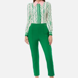Pantalone verde a sigaretta Elisabetta Franchi