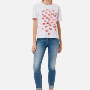 t-shirt con loghi Elisabetta Franchi