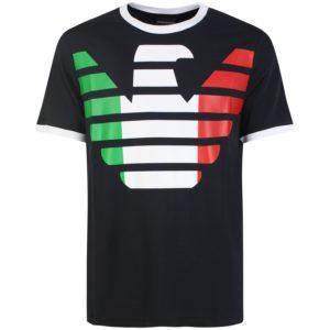 T-shirt con logo tricolore Emporio Armani
