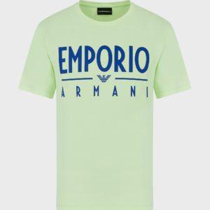 T-Shirt giallo fluo Emporio Armani