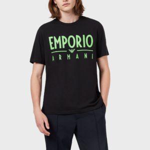 T-shirt nera Emporio Armani