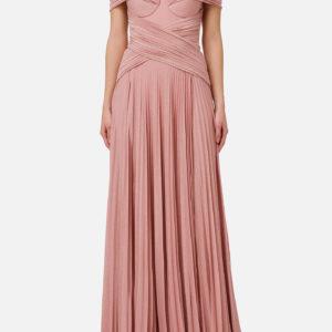 Abito rosa lungo plissettato Elisabetta Franchi