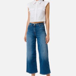 Jeans gamba larga Elisabetta Franchi