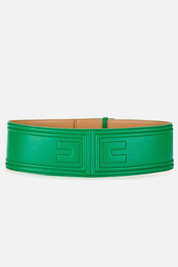 Cintura con logo a rilievo Elisabetta Franchi