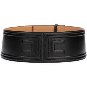 Cintura nera con logo a rilievo Elisabetta Franchi