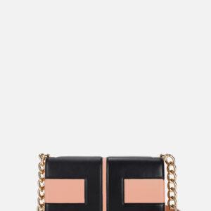 Clutch bag logo bicolor Elisabetta Franchi