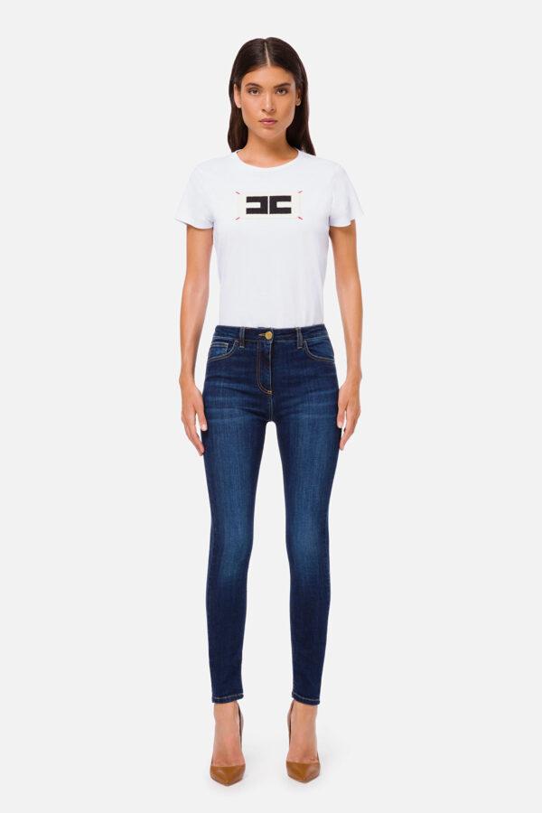 jeans skinny vita alta Elisabetta Franchi