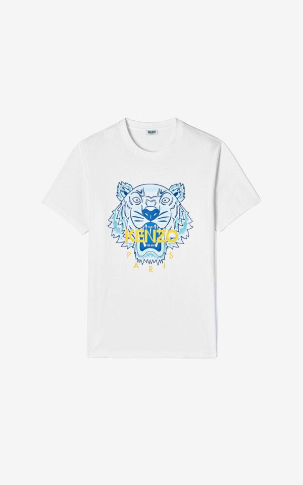 Tiger t-shirt bianca kenzo
