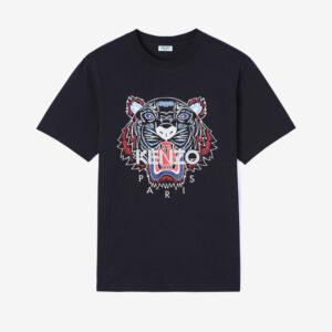 Tiger t-shirt nera kenzo
