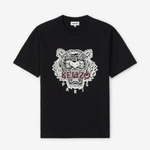 Tiger t-shirt oversize nera kenzo