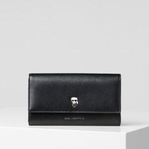 Portafoglio nero iconic Karl Lagerfeld