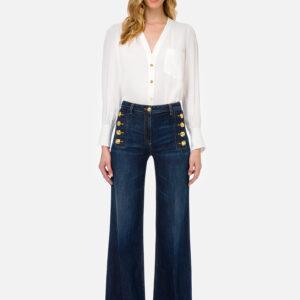 Camicia bianca in georgette Elisabetta Franchi