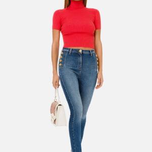 Jeans con bottoni Elisabetta Franchi