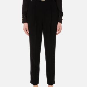 Pantalone nero con cintura Elisabetta Franchi