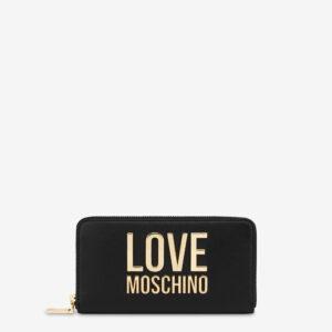 Portafoglio nero Love Moschino